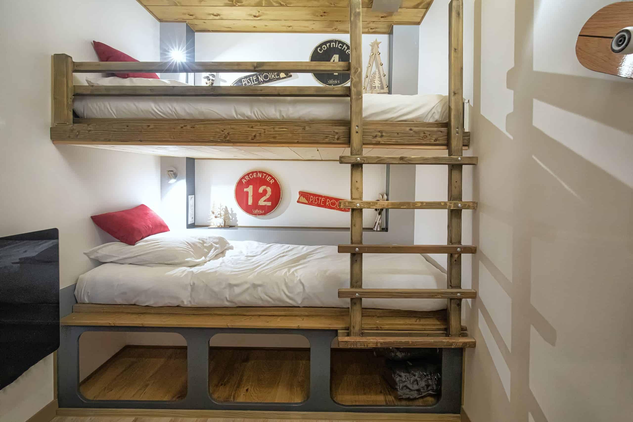 chambre lits simples gite cascade avrieux savoie